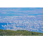 aerial view of bulgarian capital sofia taken from the top of vitosha mountain which is great spot for hikers during summer and skiers during winter. 64239