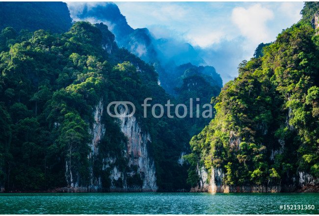 foto de Tableau mural Magical landscape with limestone mountain ...