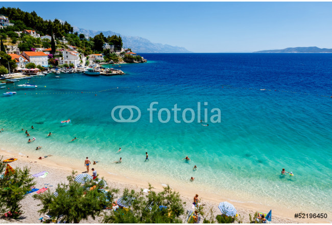 Beautiful Adriatic Beach and Lagoon with Turquoise Water near Sp 64239