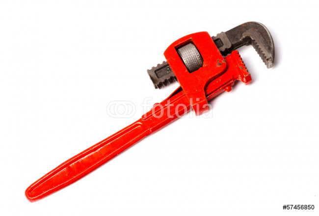 Tools - end pipe wrench isolated with clipping path 64239