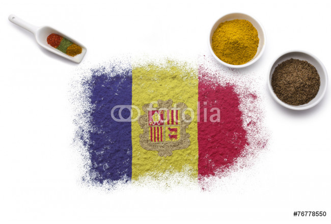 Spices forming the flag of Andorra.(series) 64239