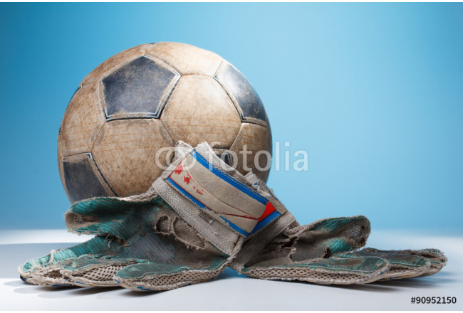 Toile déco Soccer goalkeeper's gloves and the ball 64239