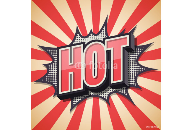 Retro poster, Hot, Vector illustration. 64239