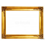old antique gold frame over white background with clipping path 64239
