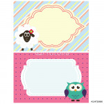 funny frame with animals vector 64239