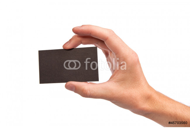 Businessman's hand holding blank business card 64239