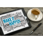 make it happen concept with related word cloud 64239