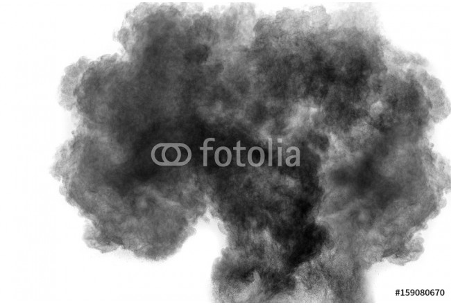 particles of black dust on white background,abstract powder splatted on white background 64239