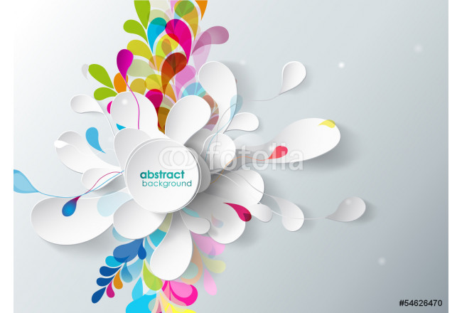 abstract background with paper flower. 64239