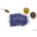 Spices forming the flag of Europe.(series) 64239