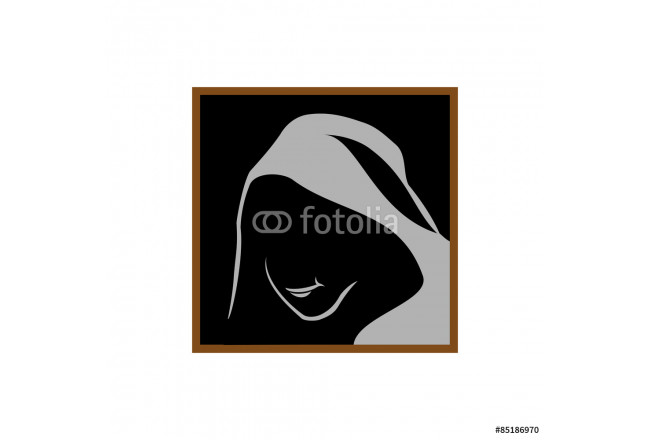 Cuadro decorativo Anonymous logo template. Monk shadowed face under the hood. 64239
