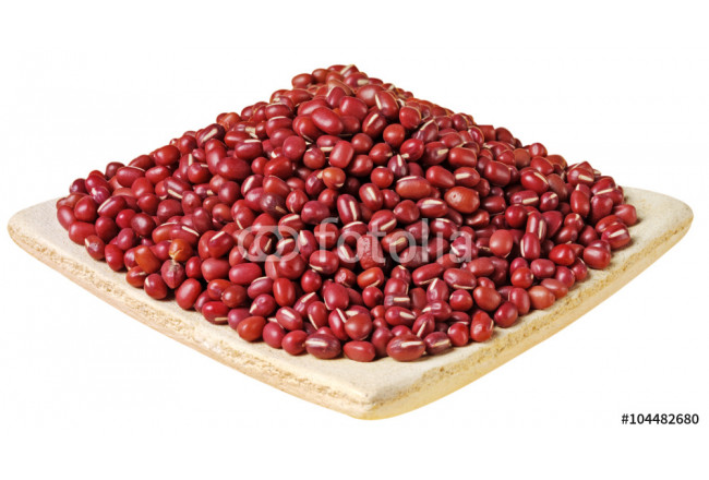 DISH OF ADUKI BEANS CUT OUT 64239