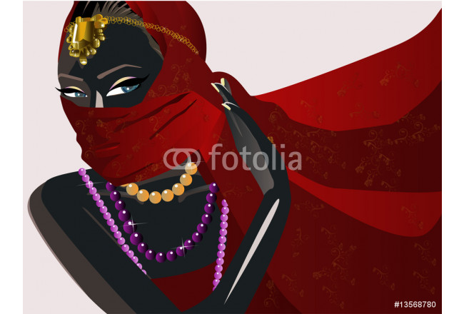 Art painting Illustration vector of a india girl 64239