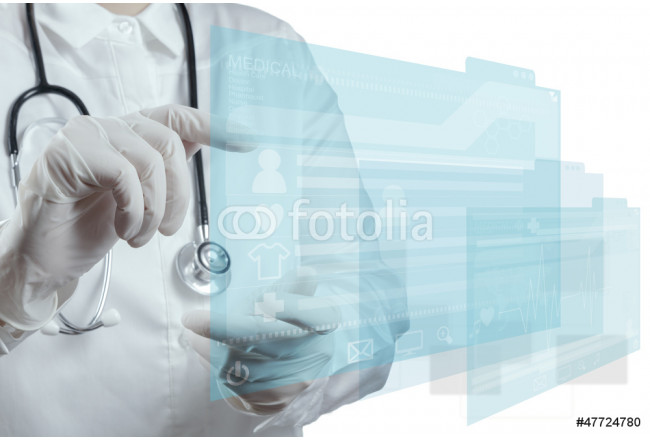 Medicine doctor working with modern computer 64239