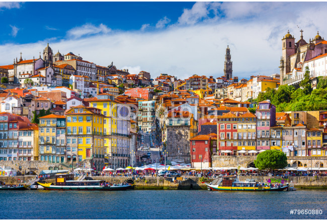 Porto, Portugal Old City Skyline on the Douro River 64239