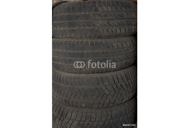 Background of rubber tires 64239