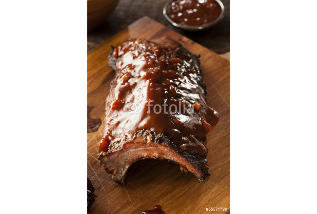 Smoked Barbecue Pork Spare Ribs 64239