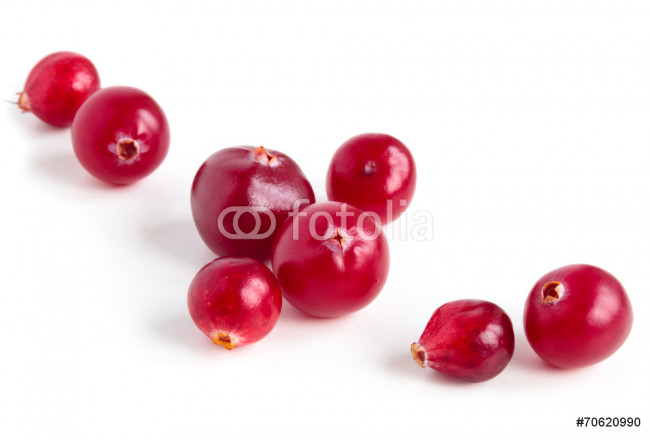 Cranberries isolated on white background. 64239