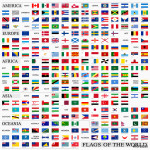World flags with proportion 3:5, by continents 64239