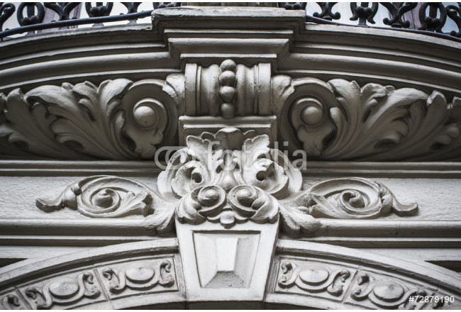 flourishes carved in stone, Spanish city of Valencia, Mediterran 64239