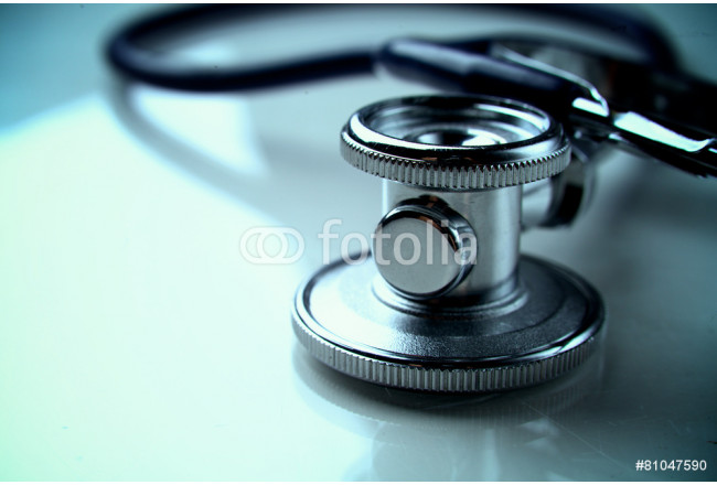 Medical stethoscope in white background 64239