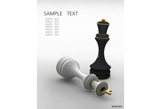 Chess concept image - checkmate 3D render 64239
