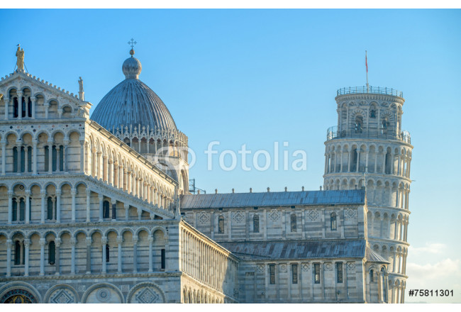 Pisa, Tuscany. Detail of Cathedral in Square of Miracles 64239