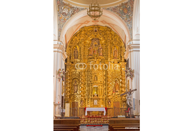 Cordoba - main altar in church of Monastery of st. Ann and st.Joseph  64239