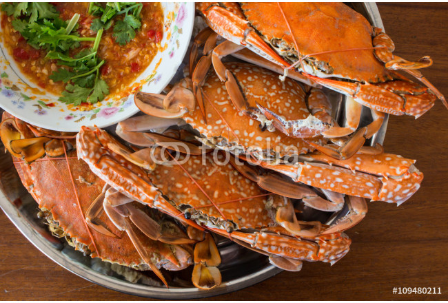baked sea crab and seafood sauce 64239