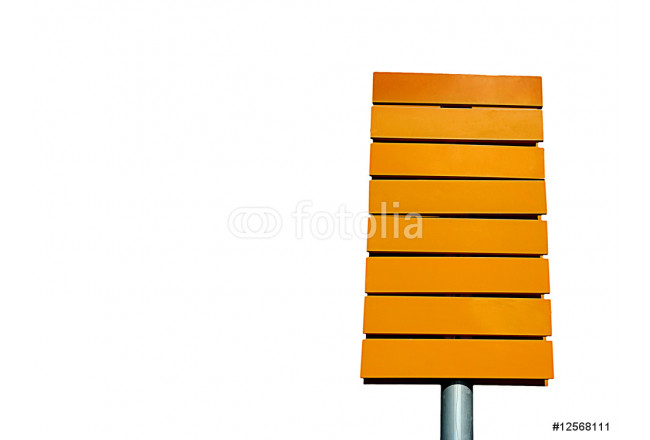 yellow direction sign empty isolated in white background 64239