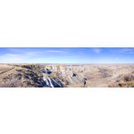 Badlands in Dinosaur Provincial Park Panorama 64239