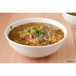 Traditional vegan turkish soup with bulgur and lentils 64239