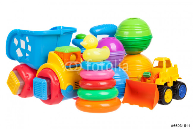 baby toys collection isolated on white 64239