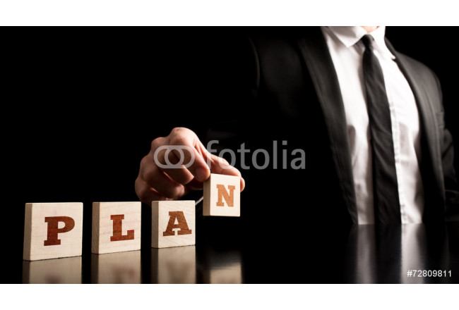 Businessman in a Simple Business Plan Concept 64239