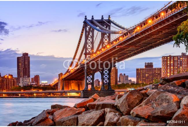 Quadro su tela manhattan bridge cityscape scopri fantastiche