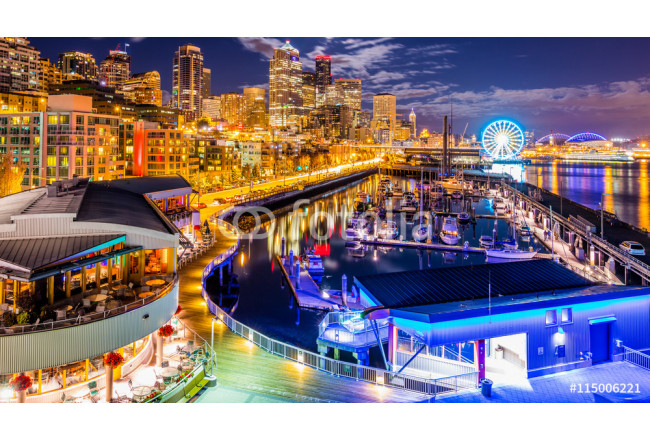 Downtown. Night Seattle from Pier 66 64239