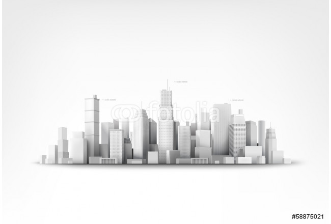 Vector illustration of skyscrappers 64239
