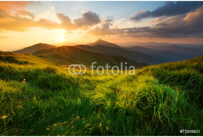 High mountain in morning time. Beautiful natural landscape 64239