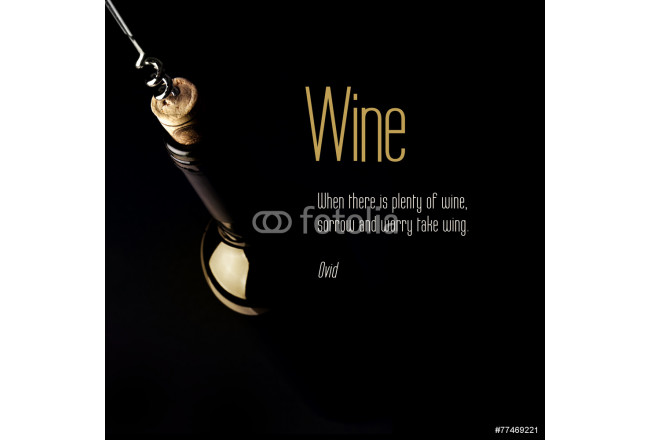Inspirational quote about Wine. 64239