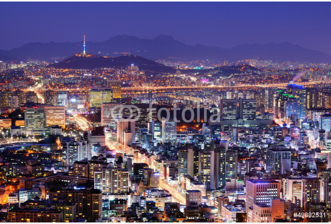 Quadro contemporaneo Seoul Skyline 64239