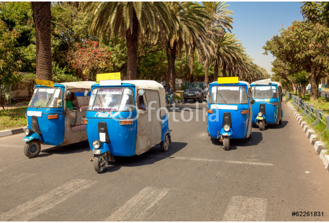 Auto rickshaw taxis at Bahir Dar in Ethiopia 64239