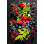 Fresh Berries on Dark  Background. 64239