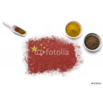 Spices forming the flag of China.(series) 64239
