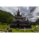 Side View Of Borgund Stave Church, Norway 64239