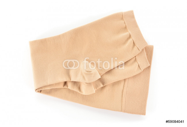Medical compression stockings on white background. 64239