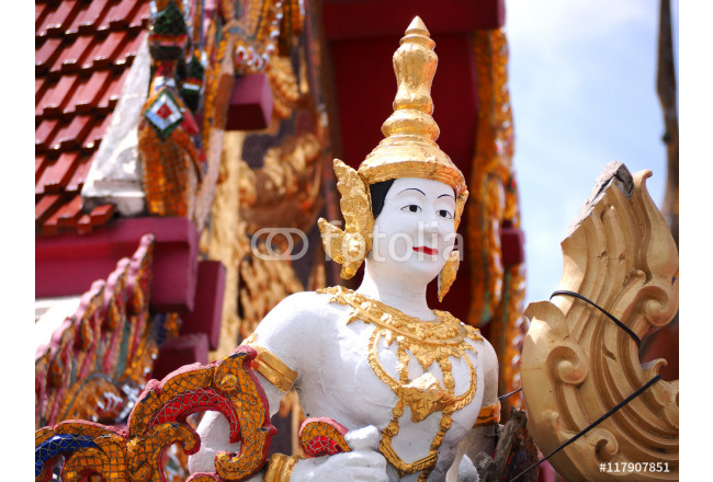 Angel statue Thailand style in temple 64239