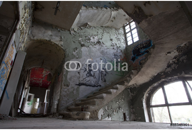 Art painting An abandoned building in Berlin, Germany 64239