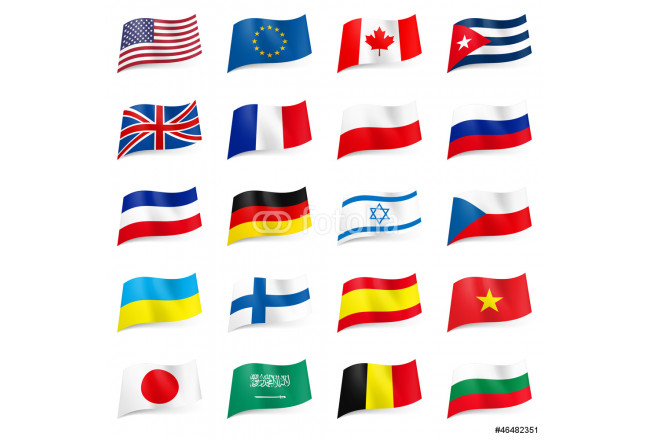 Set of World flags icons 64239