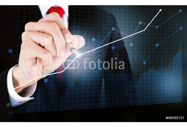 businessmen draw a graph 64239
