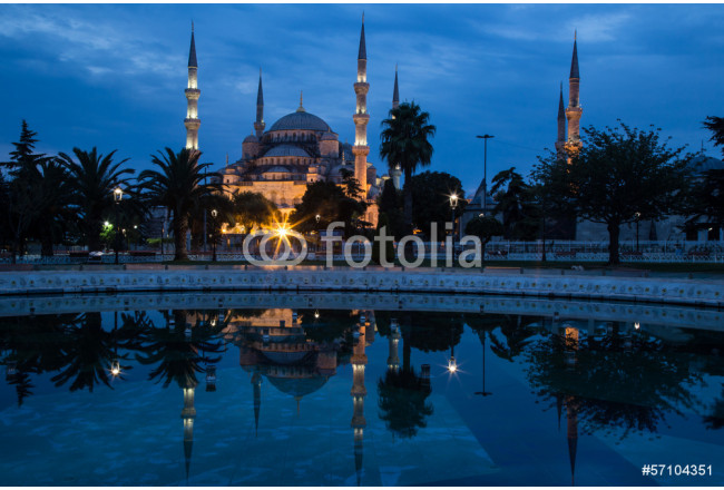 Blue Mosque, Istanbul, in dawn's early light. 64239